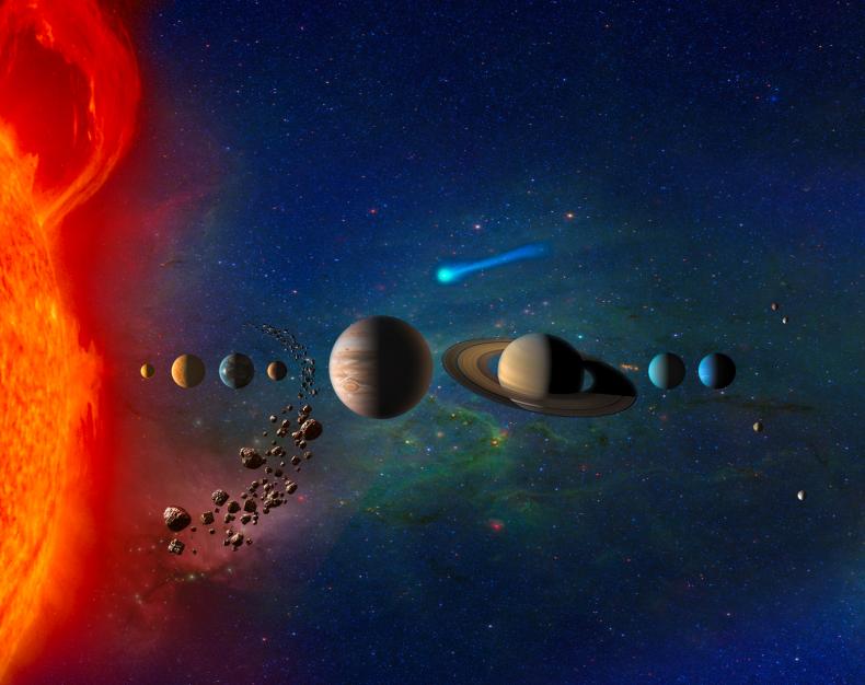 solar system animated