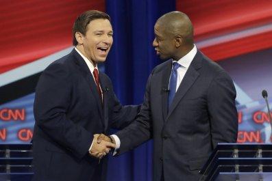 Andrew Gillum, Ron DeSantis Florida governor Debate, racist
