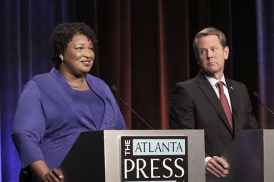 georgia voter suppression, brian kemp, stacey abrams