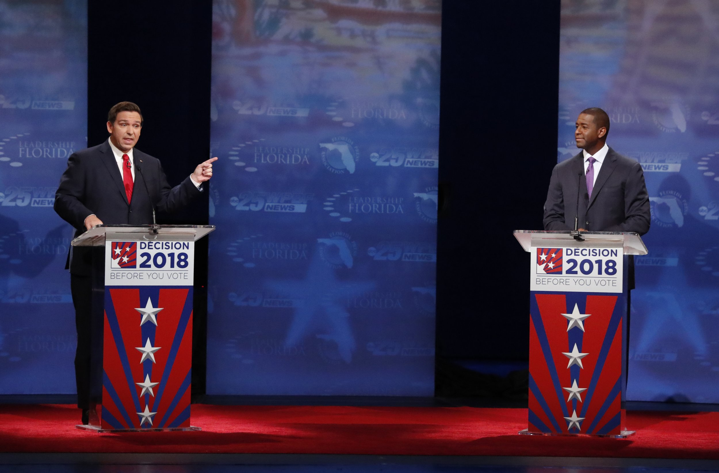 Donald Trump Calls Andrew Gillum a 'Thief,' Ron DeSantis a 'Harvard/Yale Educated Man'