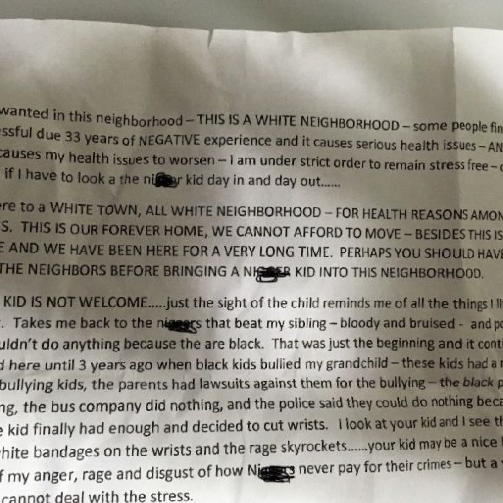 Woman Allegedly Left Racist Note on Black Neighbor's New
