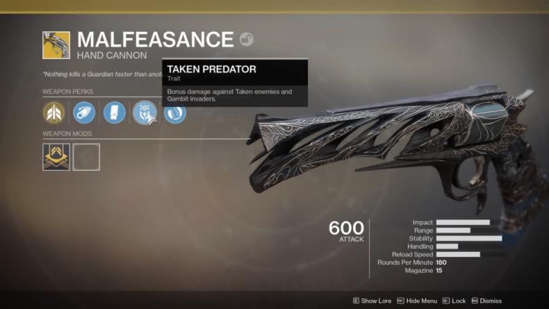 destiny 2 malfeasance update 205