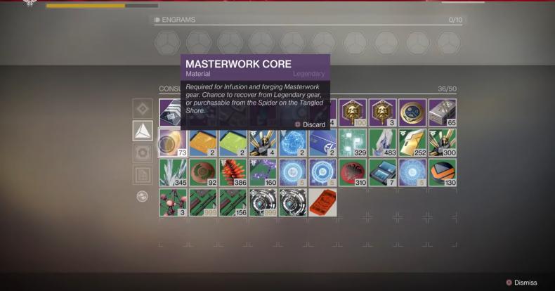 Destiny 2 masterwork core