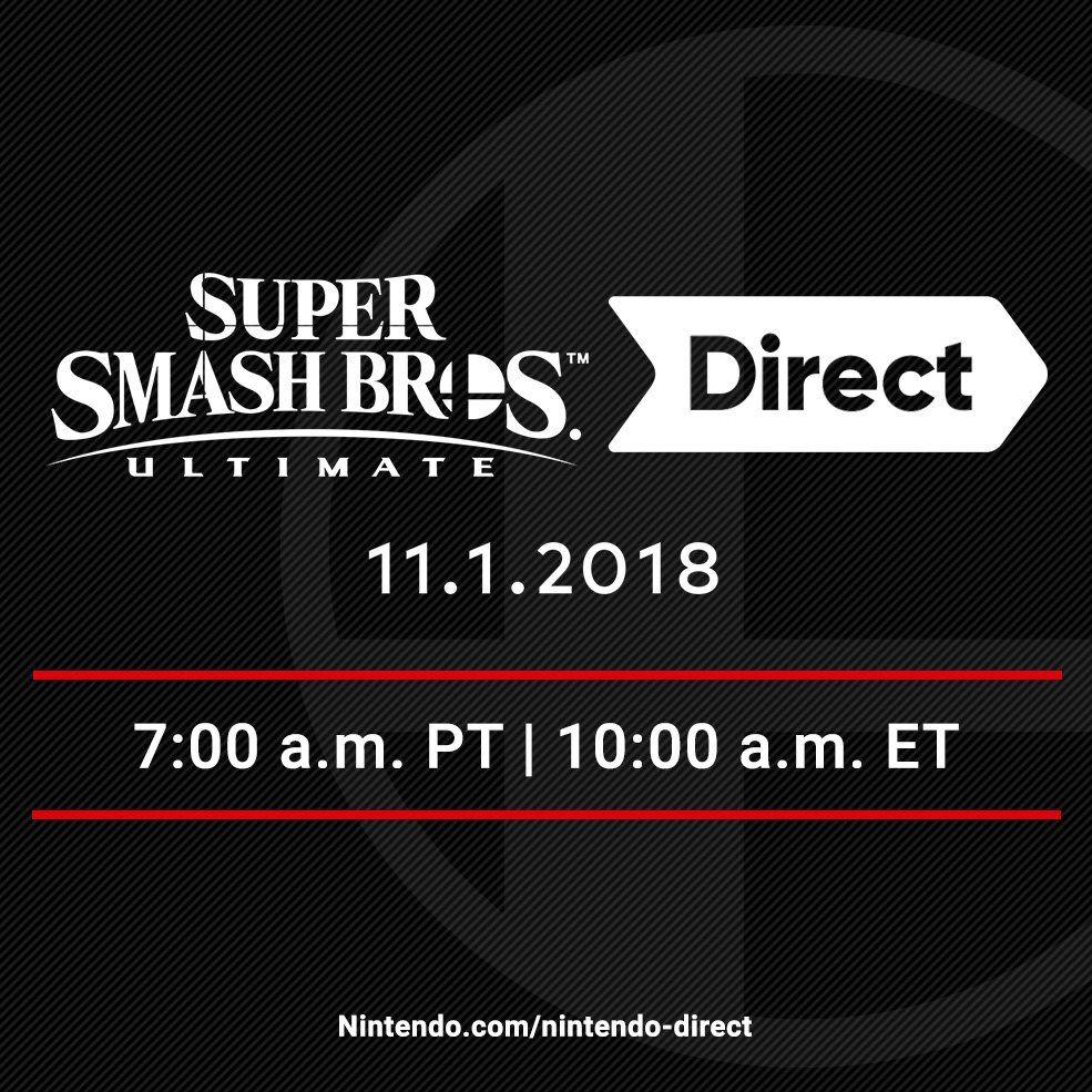 super smash bros ultimate 11 1 direct