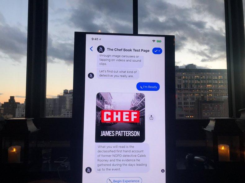 the chef james patterson facebook messenger
