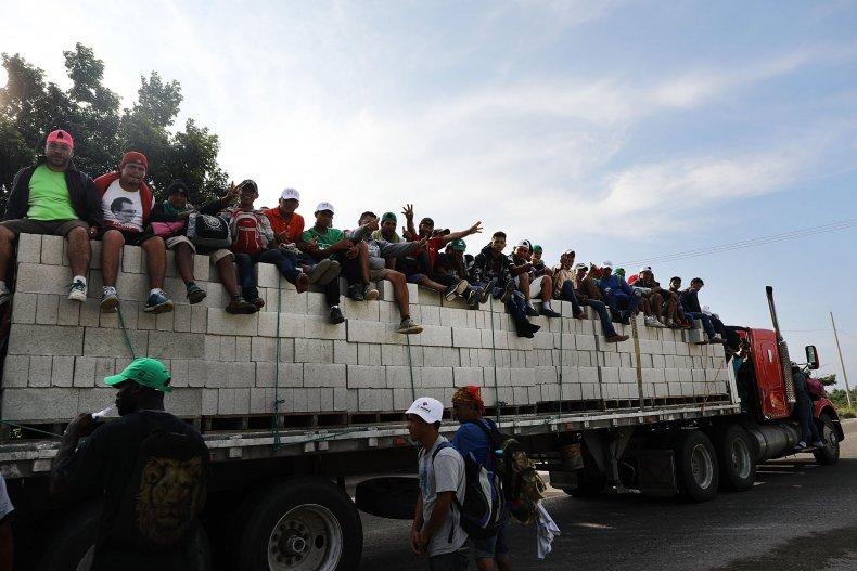 migrant caravan, military, terrorists