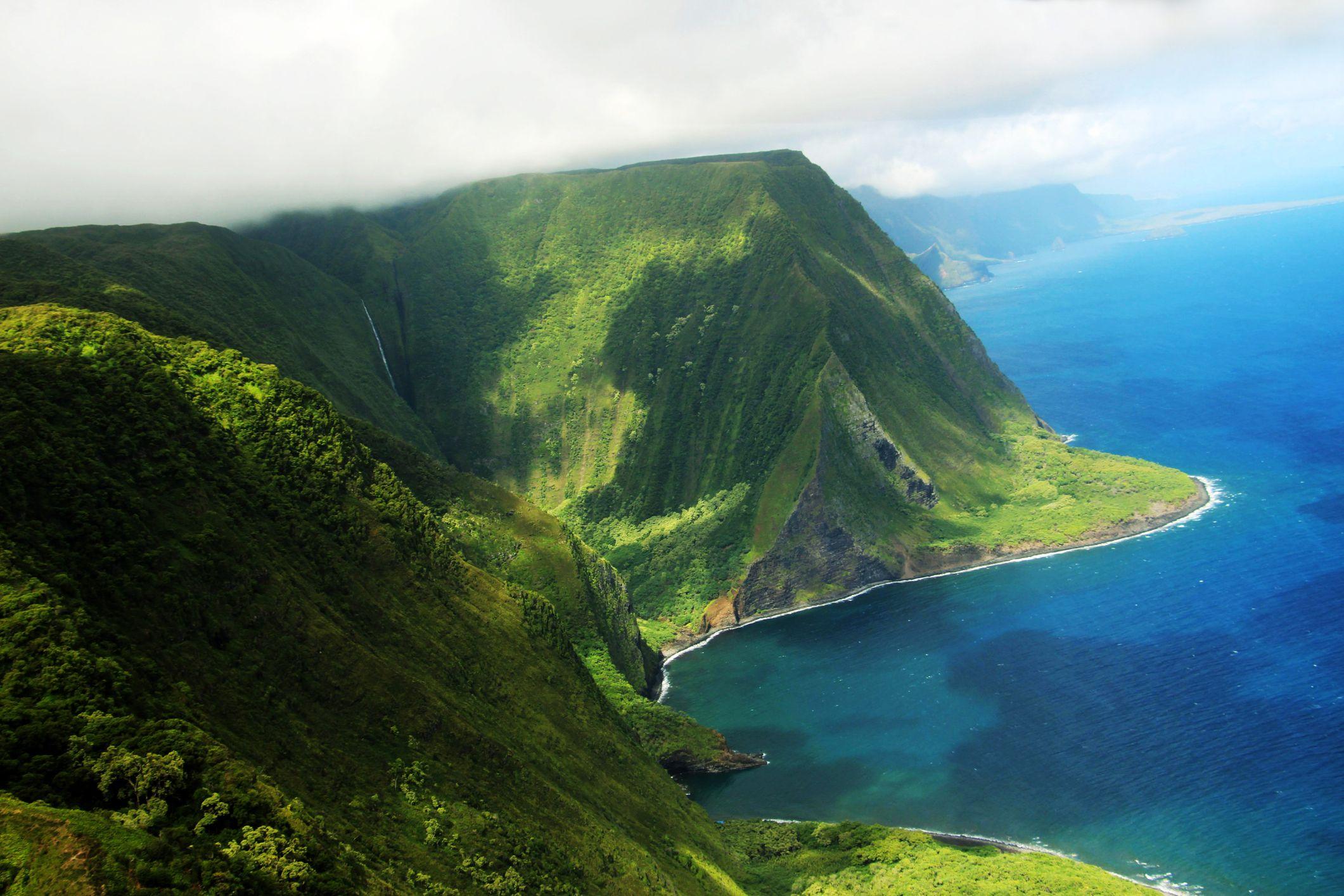 Molokai island coast