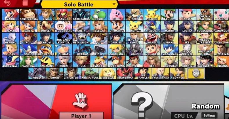 super smash bros ultimate final roster
