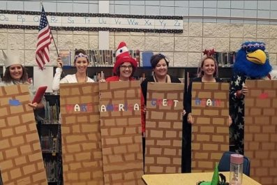 middleton teachers border wall halloween
