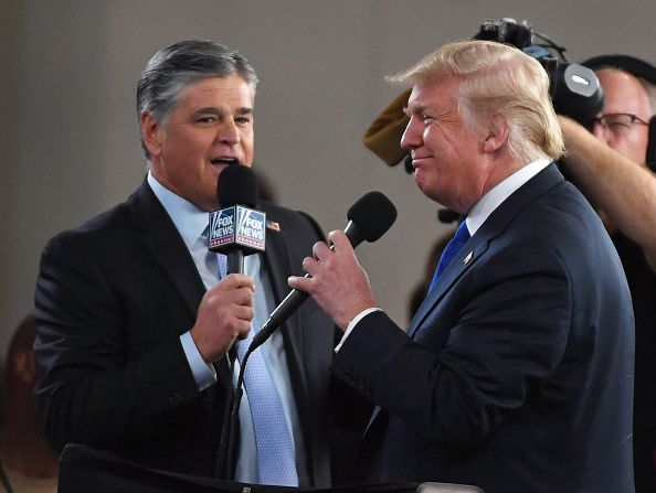 donald Trump, sean Hannity, rally, fox, news
