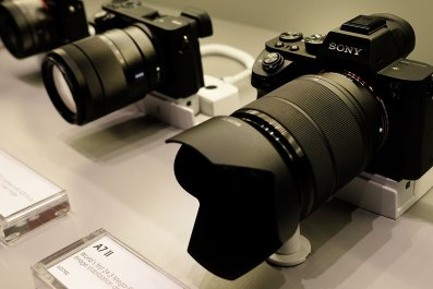cameras on display