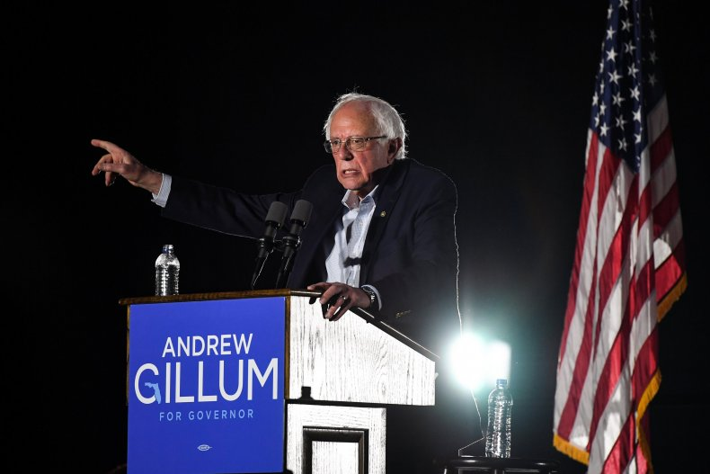 who is bernie sanders supporting 2018 midterms
