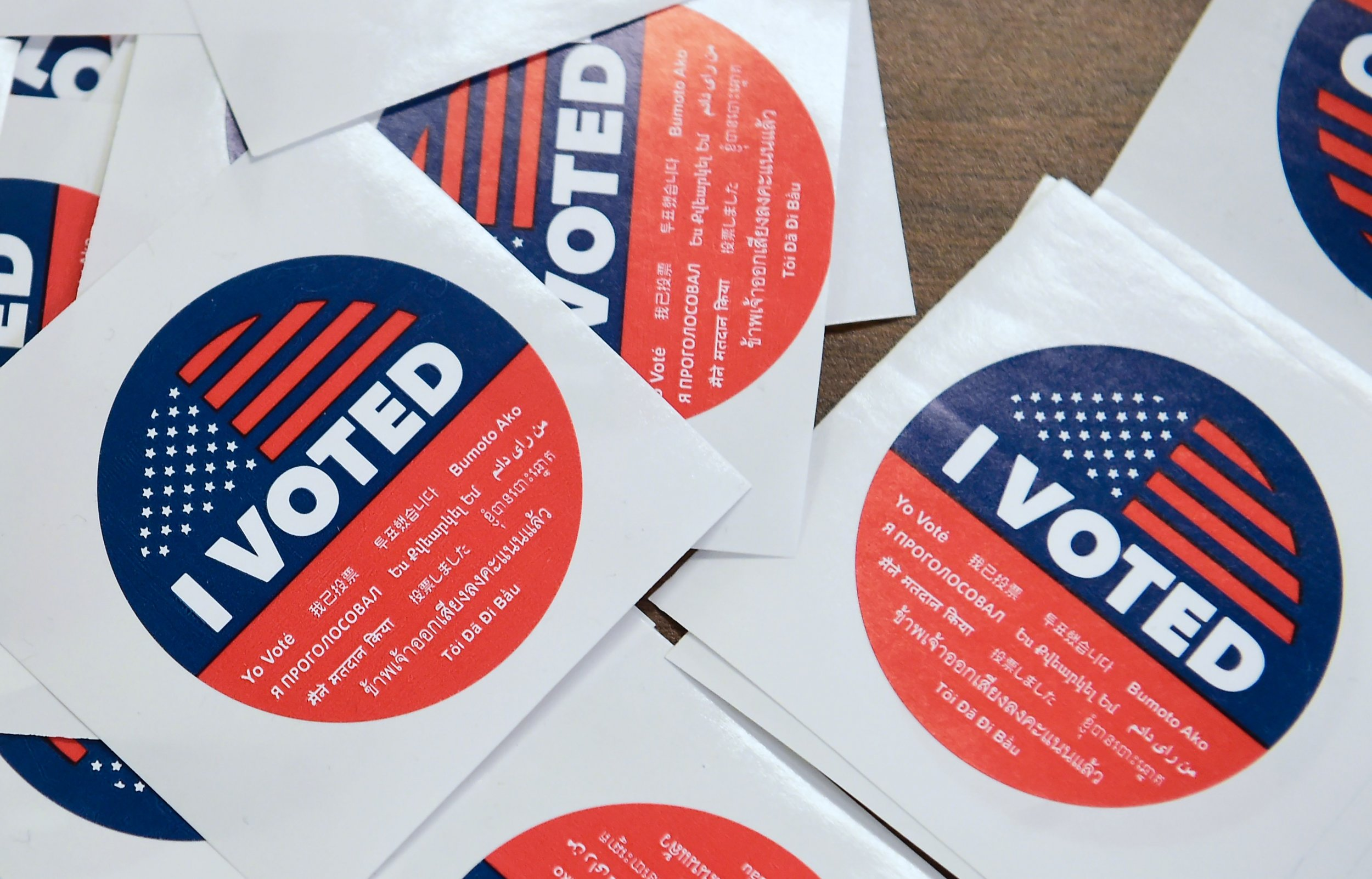 Free Food For Voting Sticker