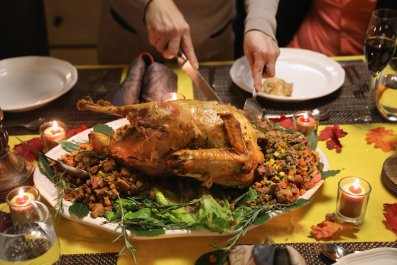 thanksgiving turkey dinner table