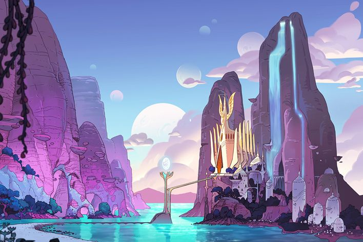 Bright Moon background from She-Ra and the Princesses of Power
