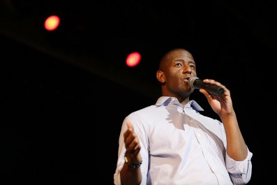 Andrew Gillum Says Donald Trump is 'Embarrassing to Democracy' election florida
