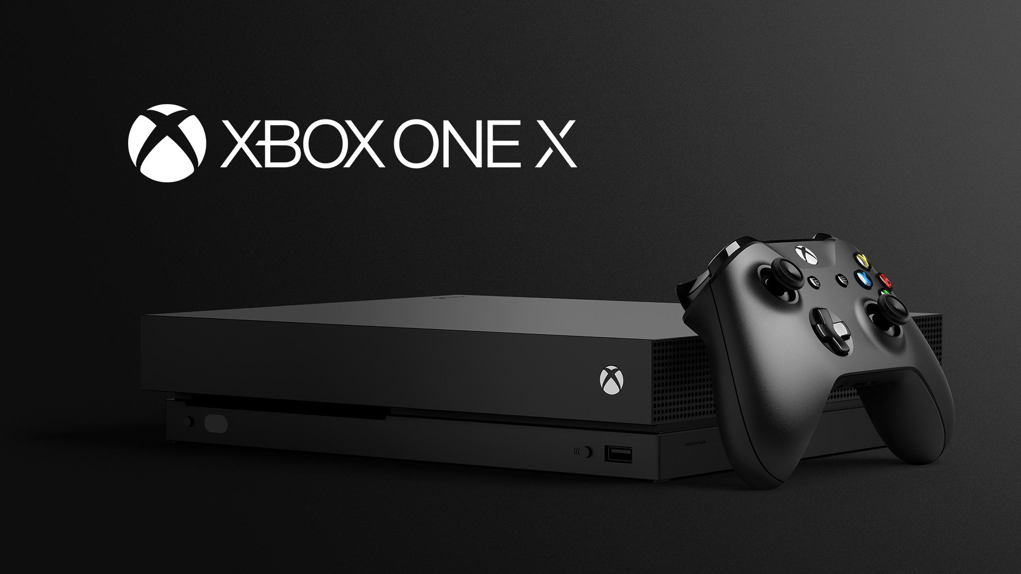 Xbox One X pack shot