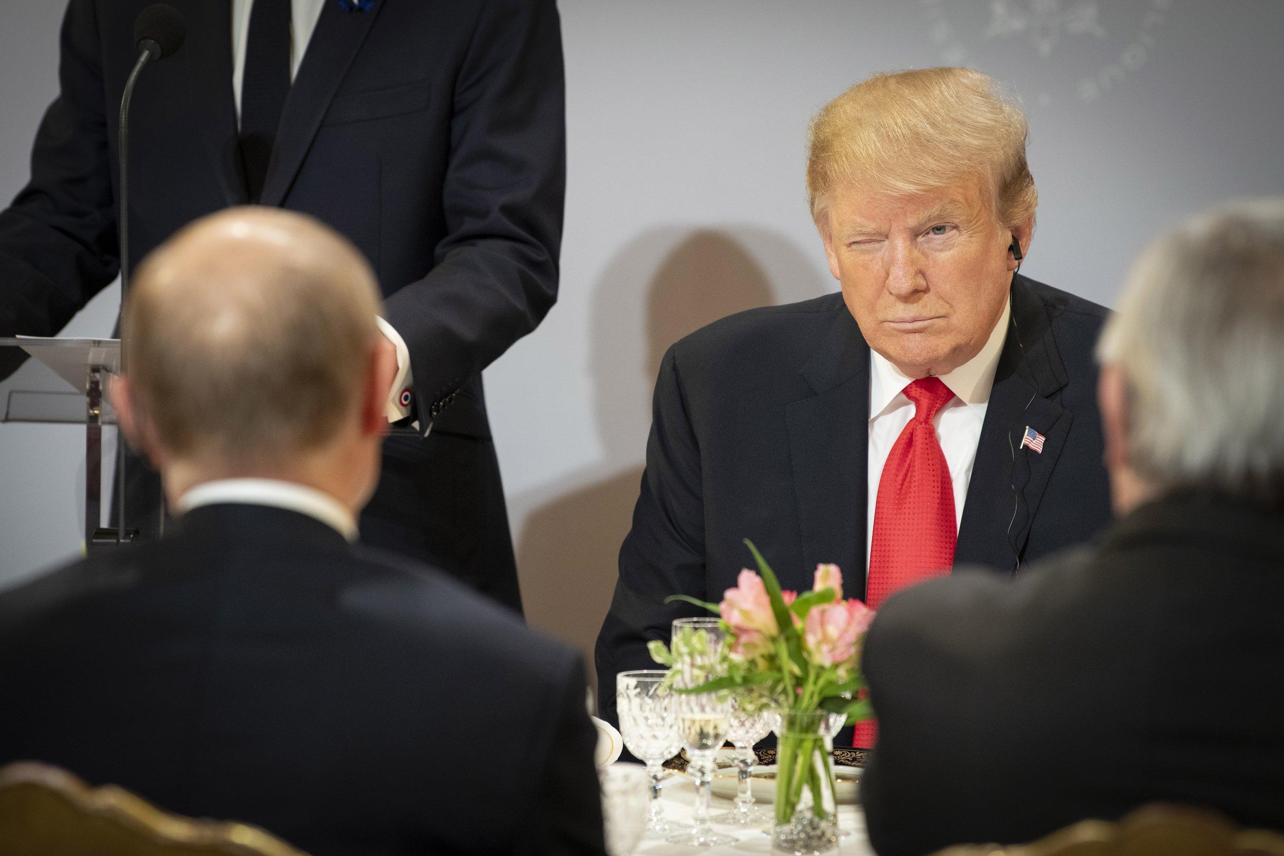 Trump Putin lunch