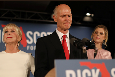Trump Says Florida Election 'Should Be Called in Favor of Rick Scott and Ron DeSantis' Despite Uncounted Ballots