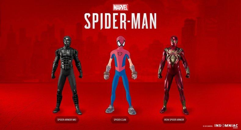 spiderman ps4 dlc 2 suits