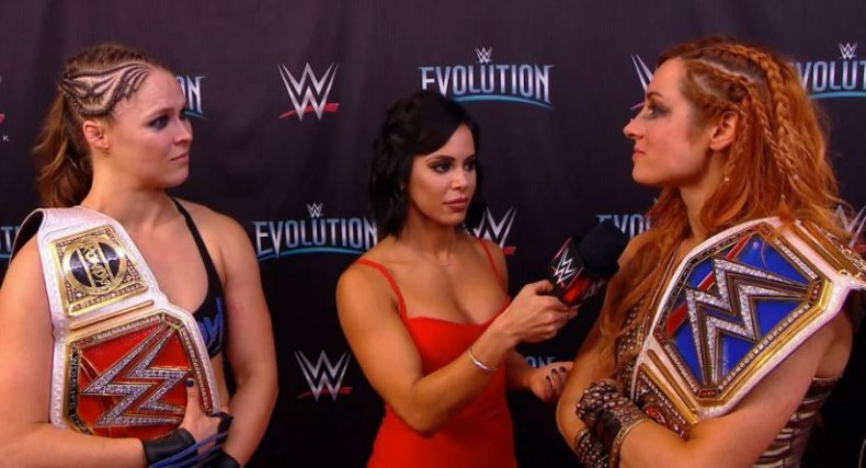 becky lynch and ronda rousey evolution post show