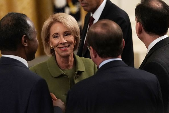 betsy DeVos sexual assault, education secretary