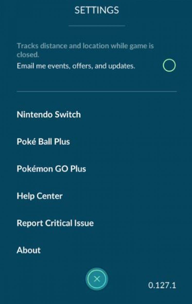 PoGo switch screen