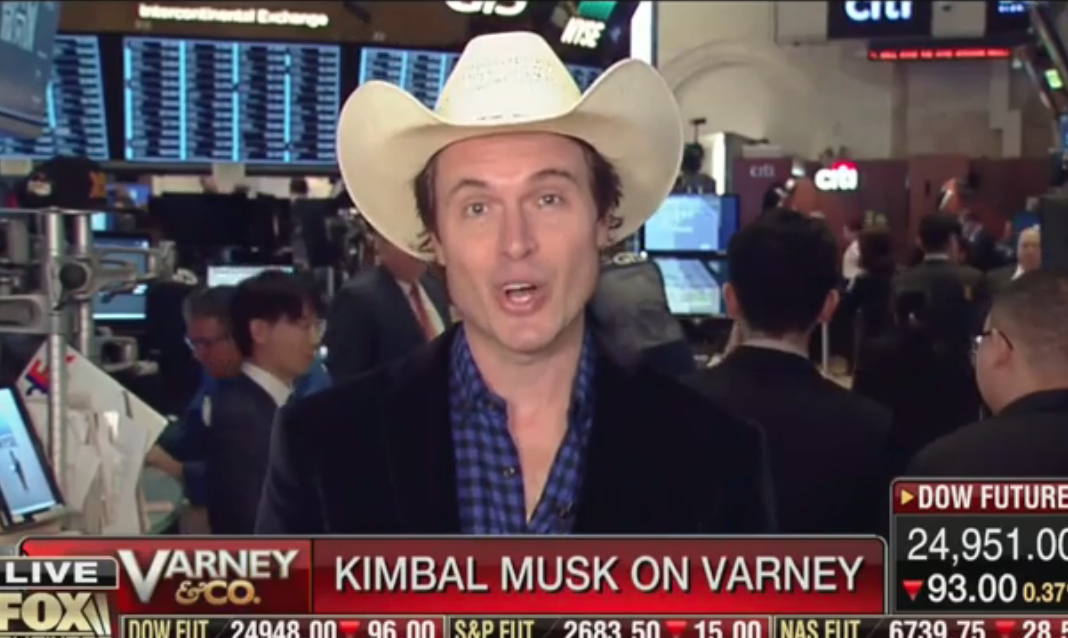 Watch: Kimbal Musk Promotes 'Plant A Seed Day,' Tesla-Focused Fox