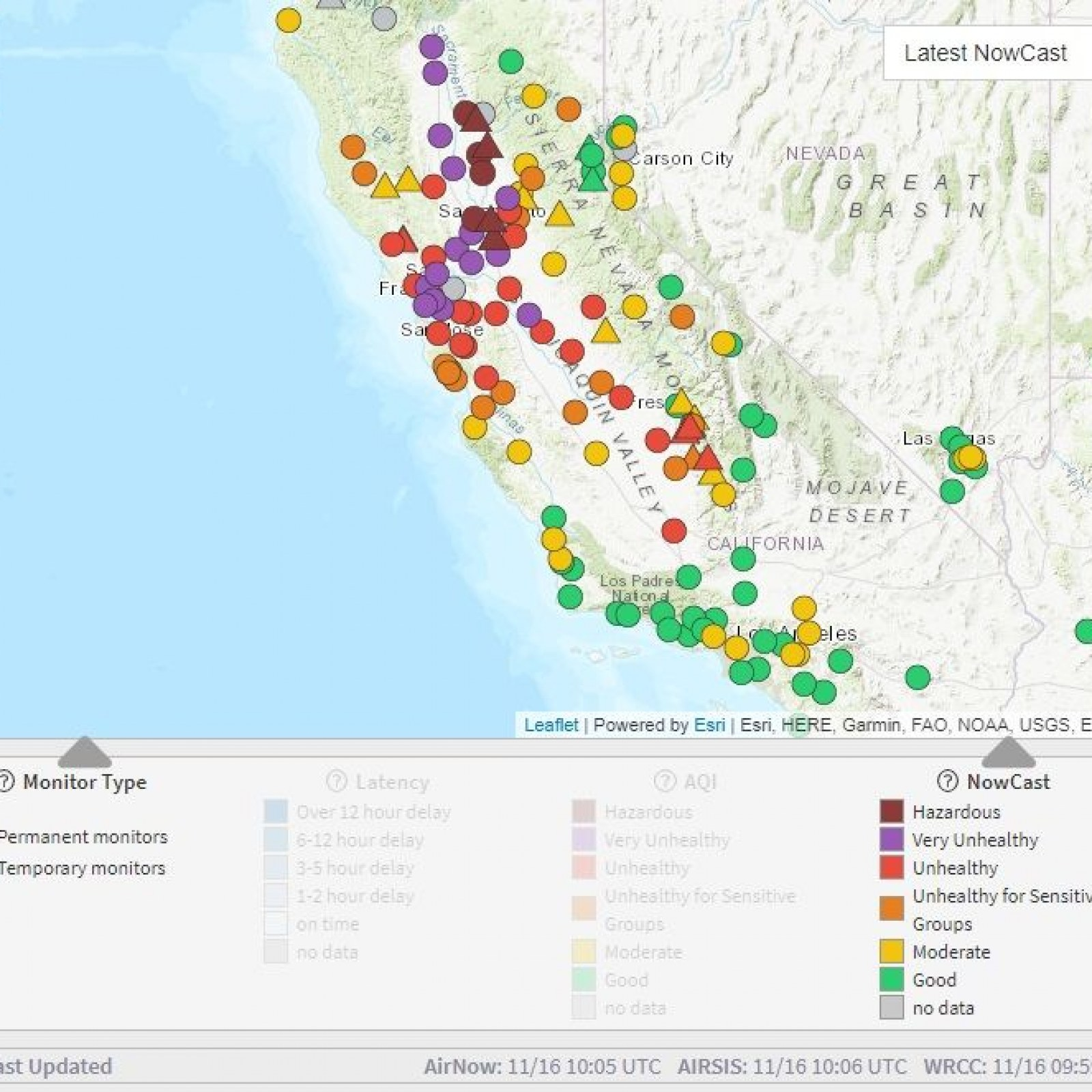 California Fires Air Quality Map: Pollution Update Shows ... on california road map, usa map, nevada city california map, california counties map, mexico baja california peninsula map, state map, carmel california coast map, california flag, california history, illinois on us map, riverside california map, la california map, sacramento california map, san francisco california map, calif map, oakland california map, northern california map, channel islands california map, vintage california map, california on satellite,