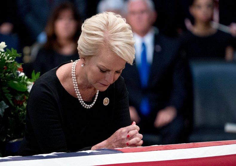 Cindy McCain, John McCain, Donald Trump