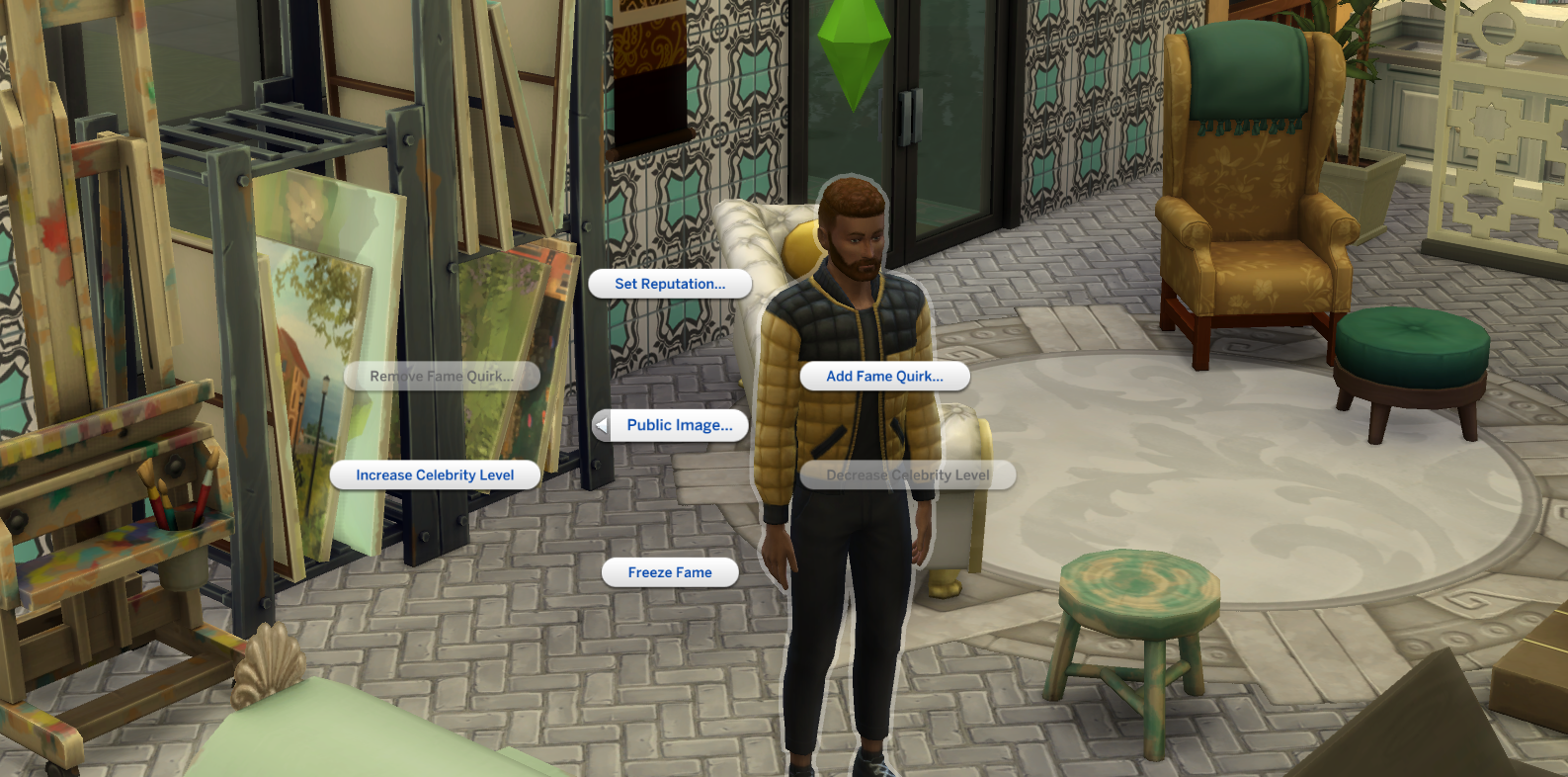 sims 4 cheats get famous quirk reputation fame public image