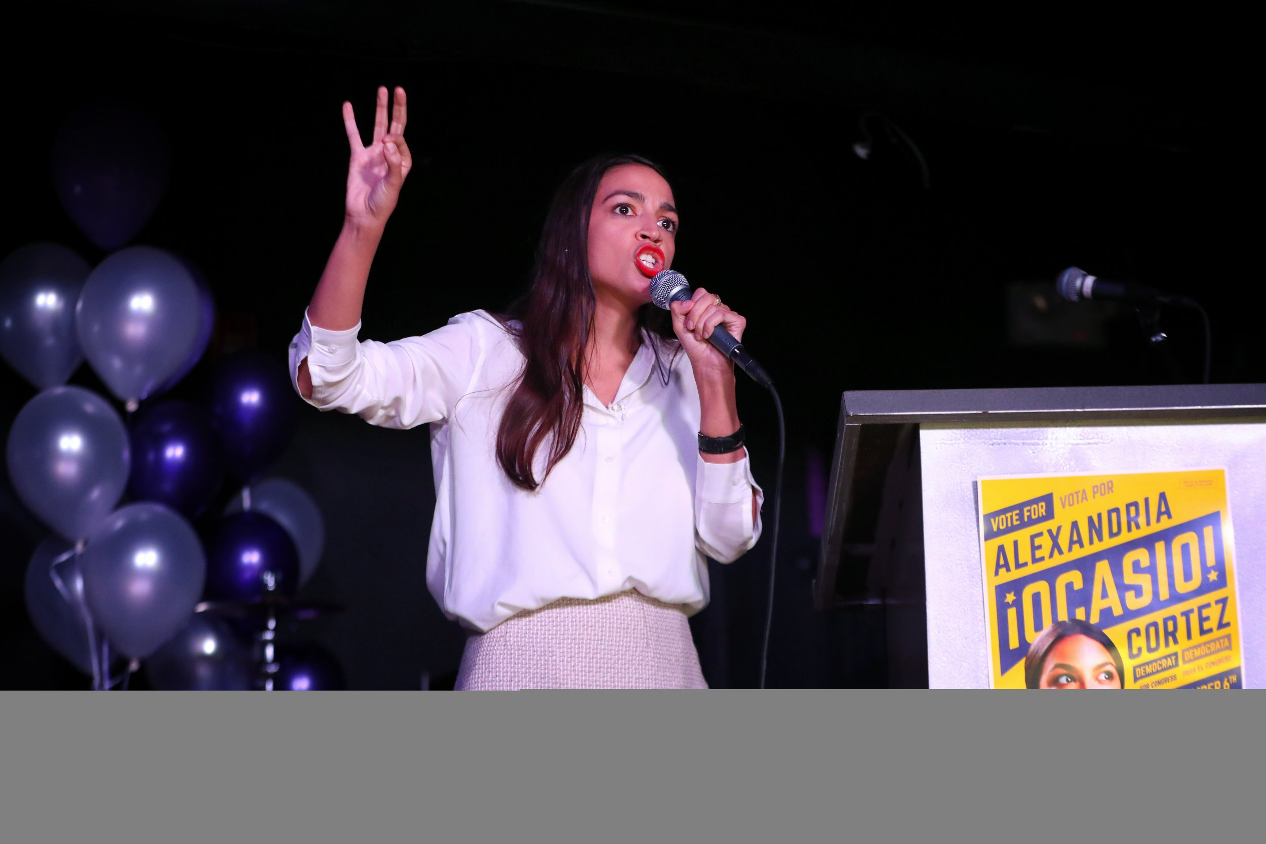 Alexandria Ocasio-Cortez columbus day, election day
