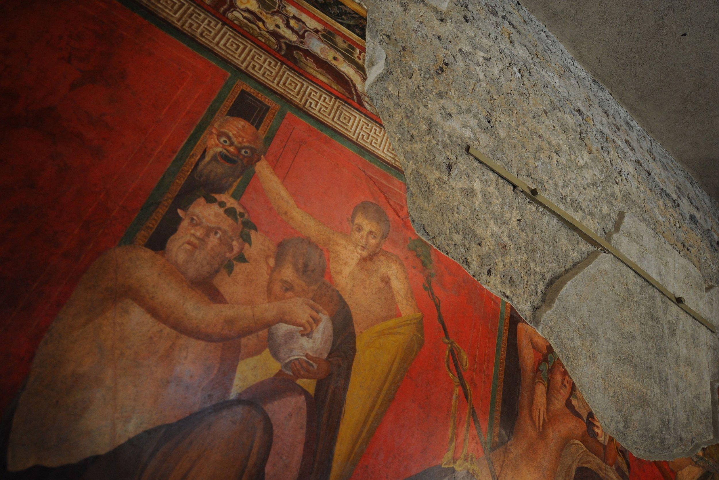 Pompeii Archaeologists Discover Fresco Painting of Roman