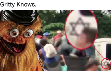 newsweek.com - Benjamin Fearnow - Alt-right hijacks 'Gritty' Philadelphia Flyers mascot in Nazi, conspiracy theory memes