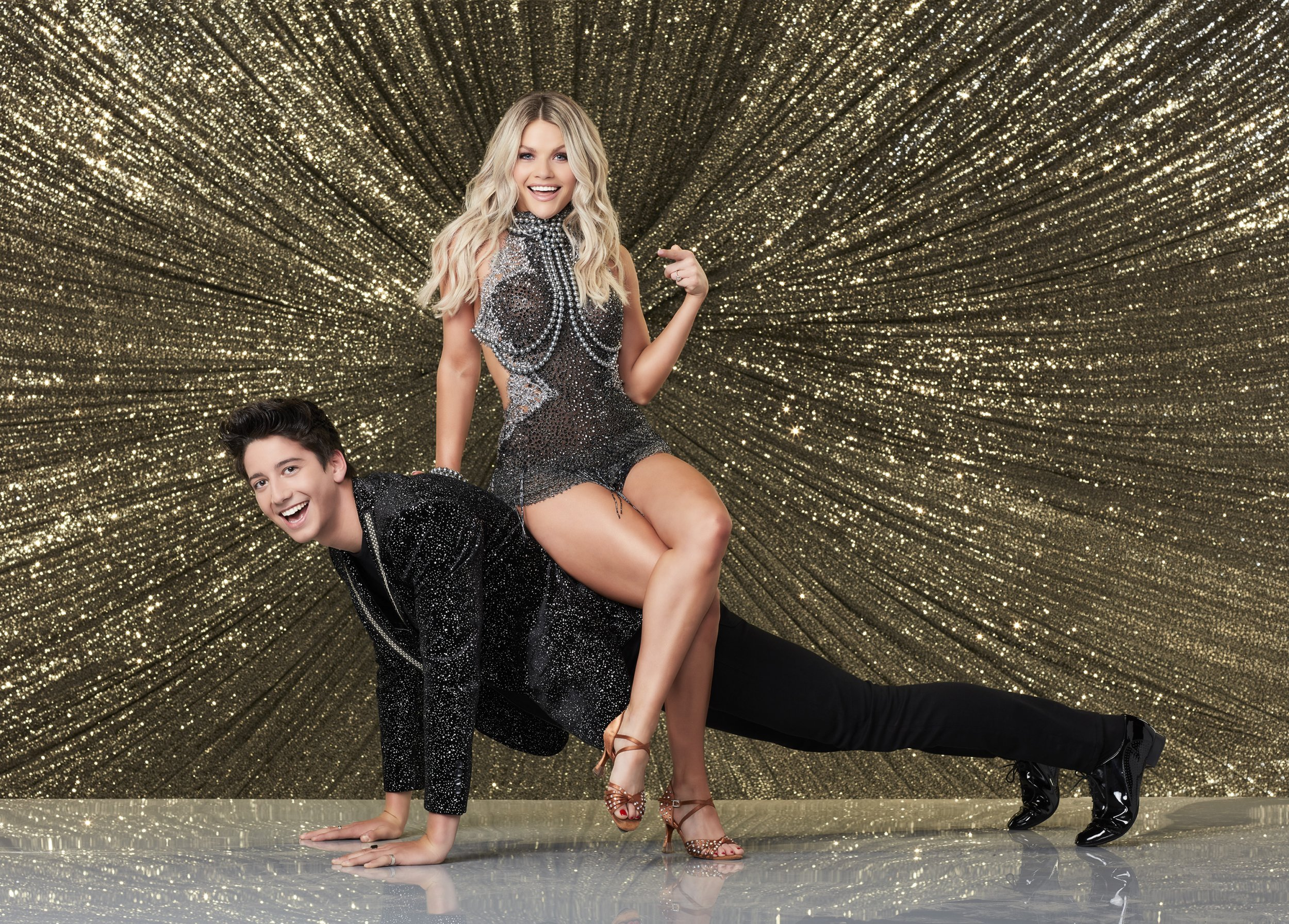 Milo Manheim and Witney Carson on DWTS