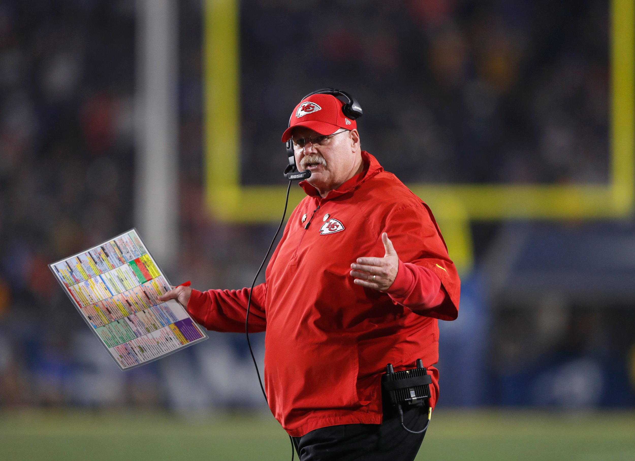 Andy Reid Goes Nuts at Jared Goff and Referees on MNF ...