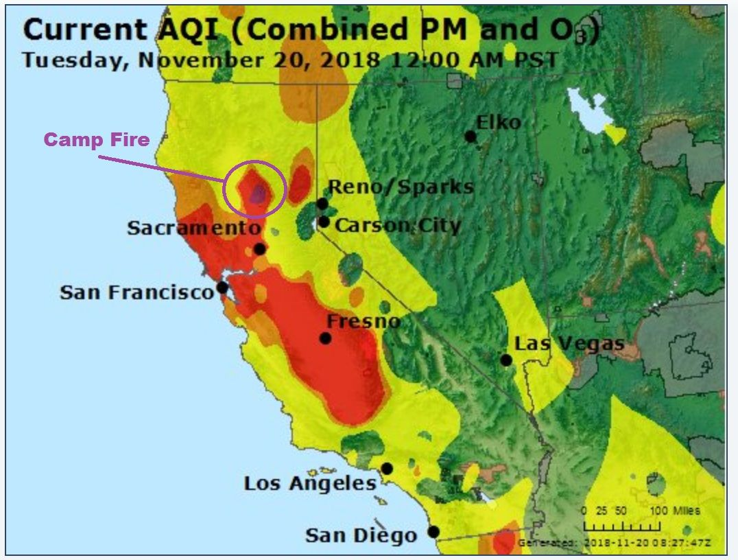 Air Quality Index Camp Fire