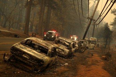 mudslides california wildfire