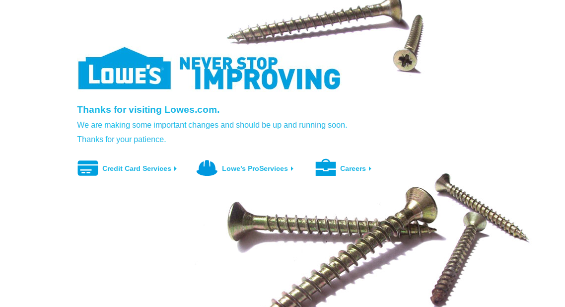 Lowe's Website Not Working, Down on Black Friday 2018: 'Never Stop