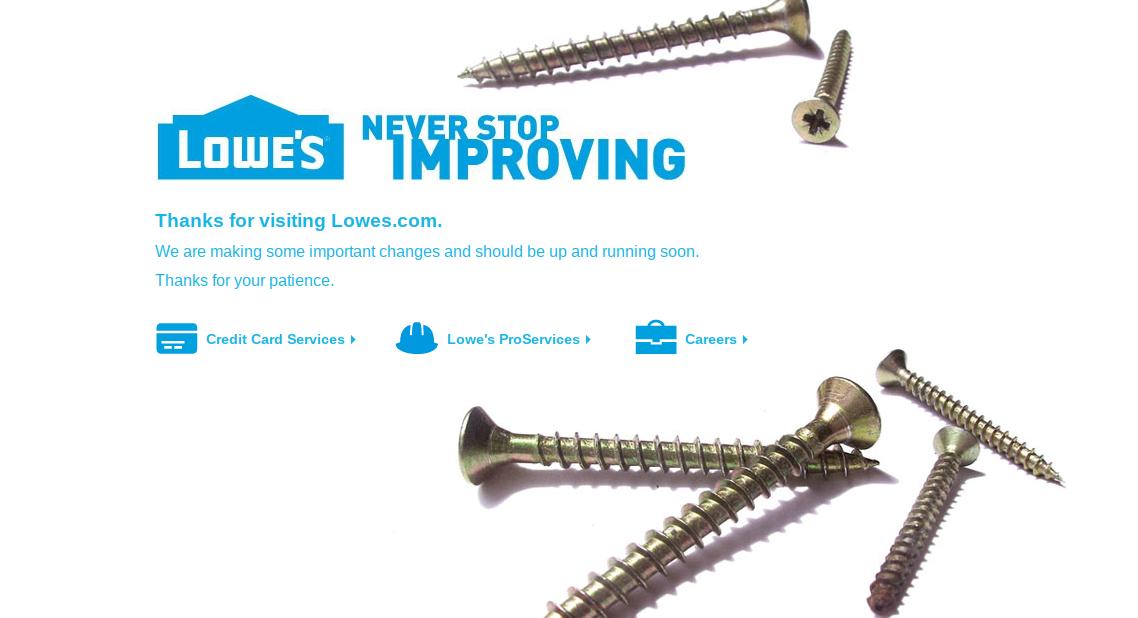lowe's website not working
