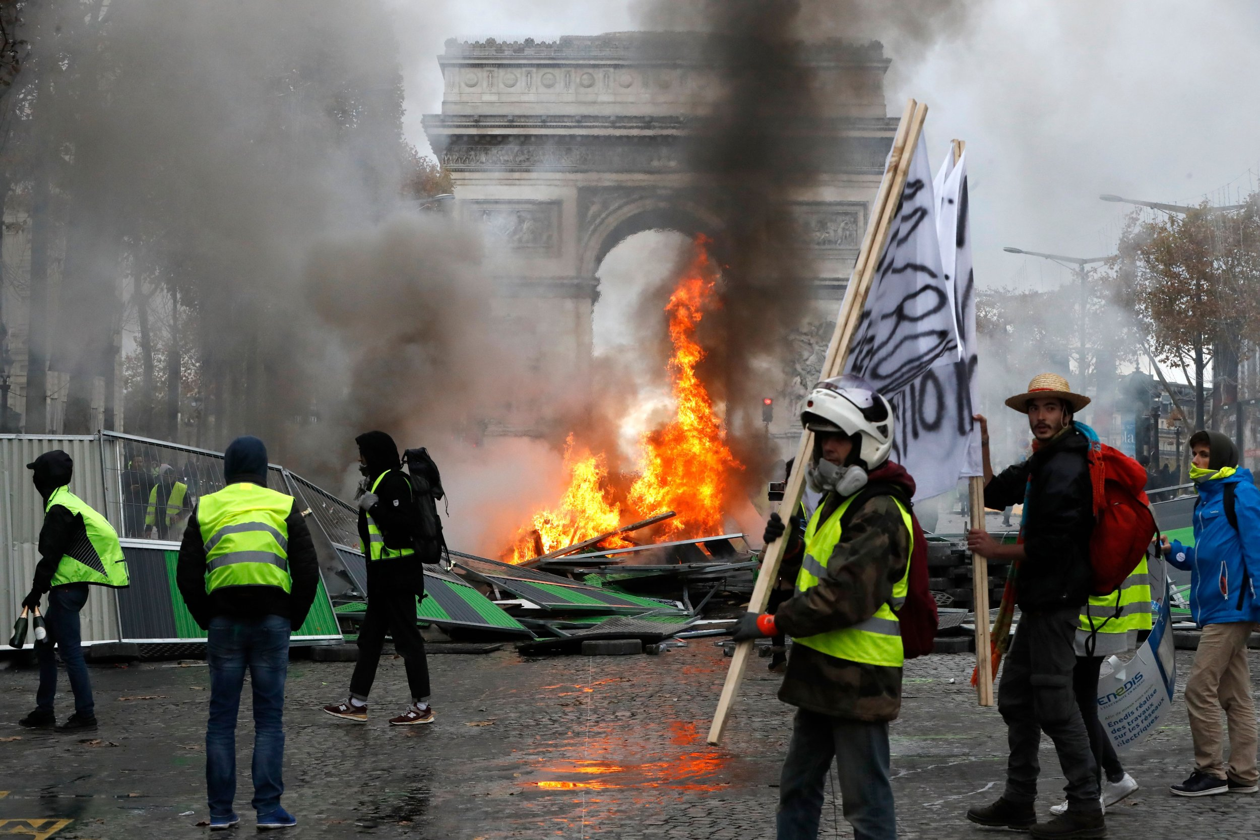 French Gas Tax Protest