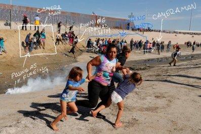 trump media, conspiracy theory, migrant caravan, border
