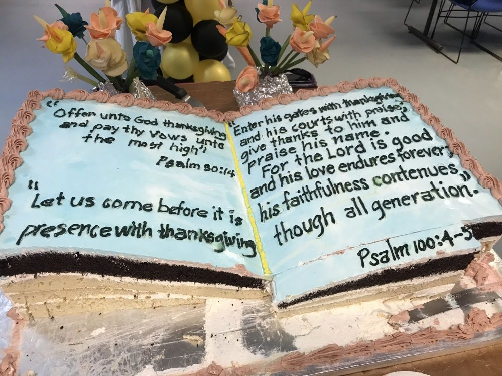 Bible Cake at USAF base in Qatar