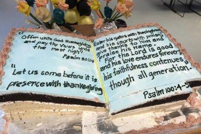Bible Cake at USAF base in Qatar