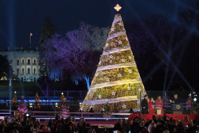 national christmas tree lighting washington dc trump