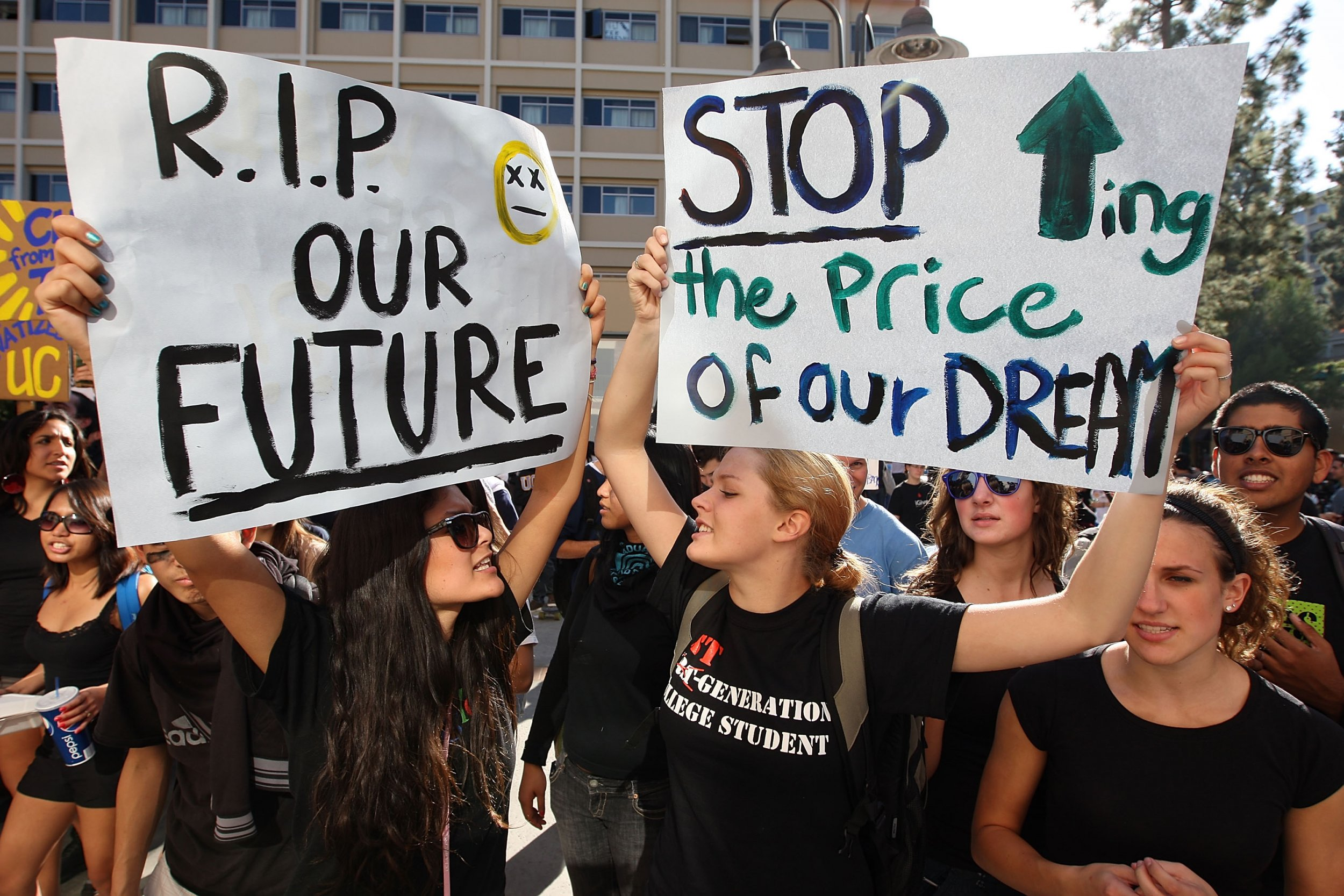 student loan protest