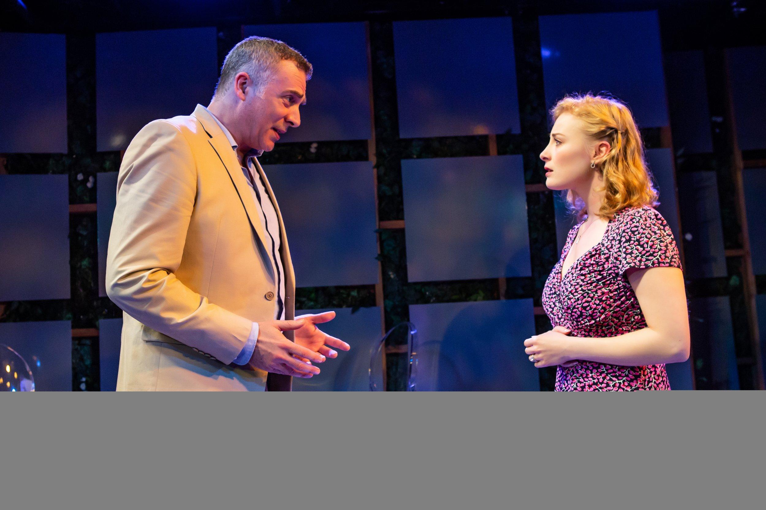 Aidan Redmond and Jenny Leona in Irish Rep's TWO BY FRIEL - THE YALTA GAME, Photo by Jeremy Daniel (1)