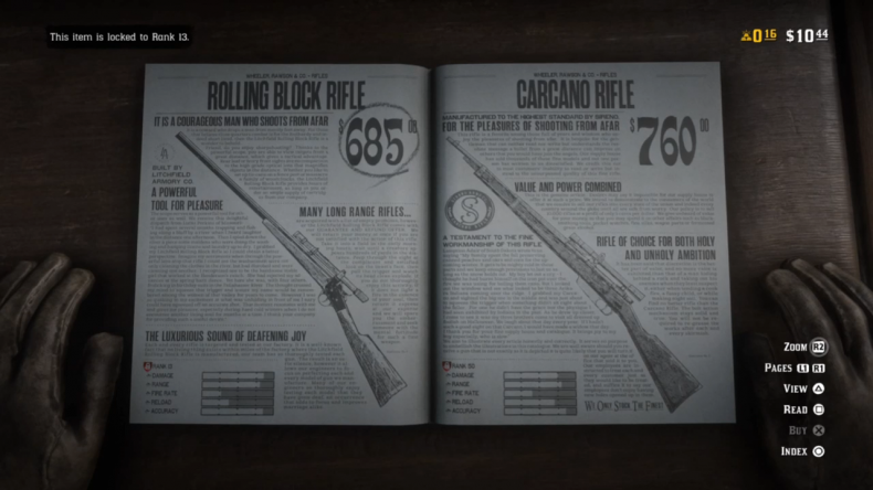 Red Dead Online weapons