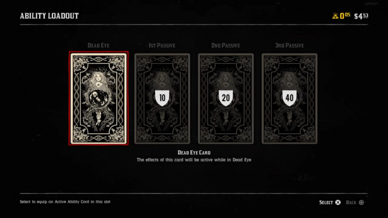 Red Dead Online ability cards