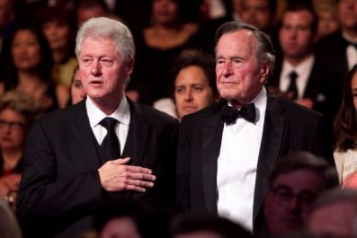 george h.w. bush and bill clinton